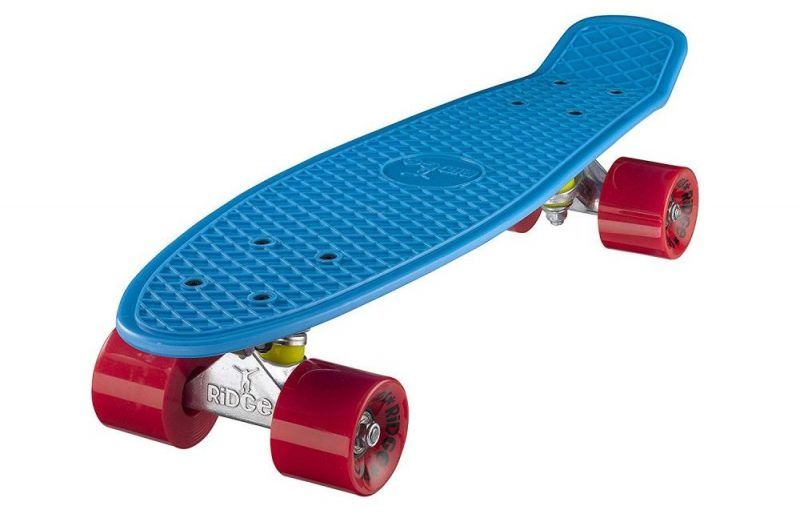 skate ridge mini cruiser bleu rouge