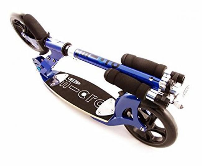 trottinette grande roue Micro flex bleu