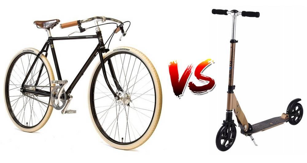 Vélo ou trottinette lequel choisir