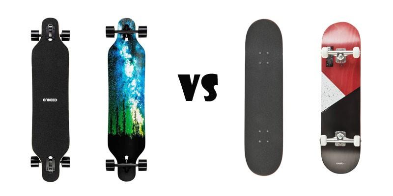 Longboard contre Skateboard