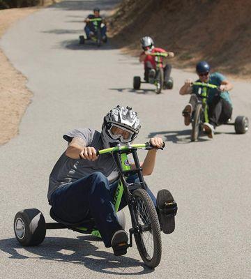 drift en descente avec tricycle drift trike